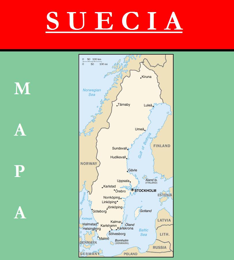 Escudo de MAPA DE SUECIA
