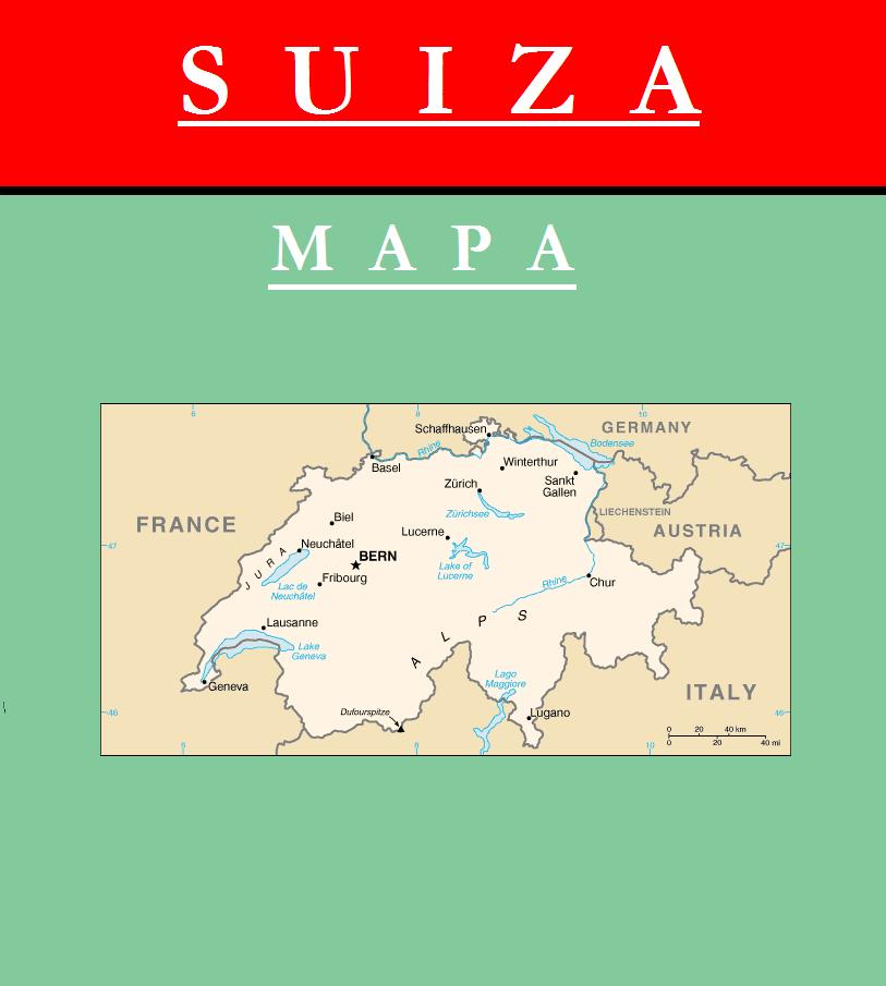 Escudo de MAPA DE SUIZA