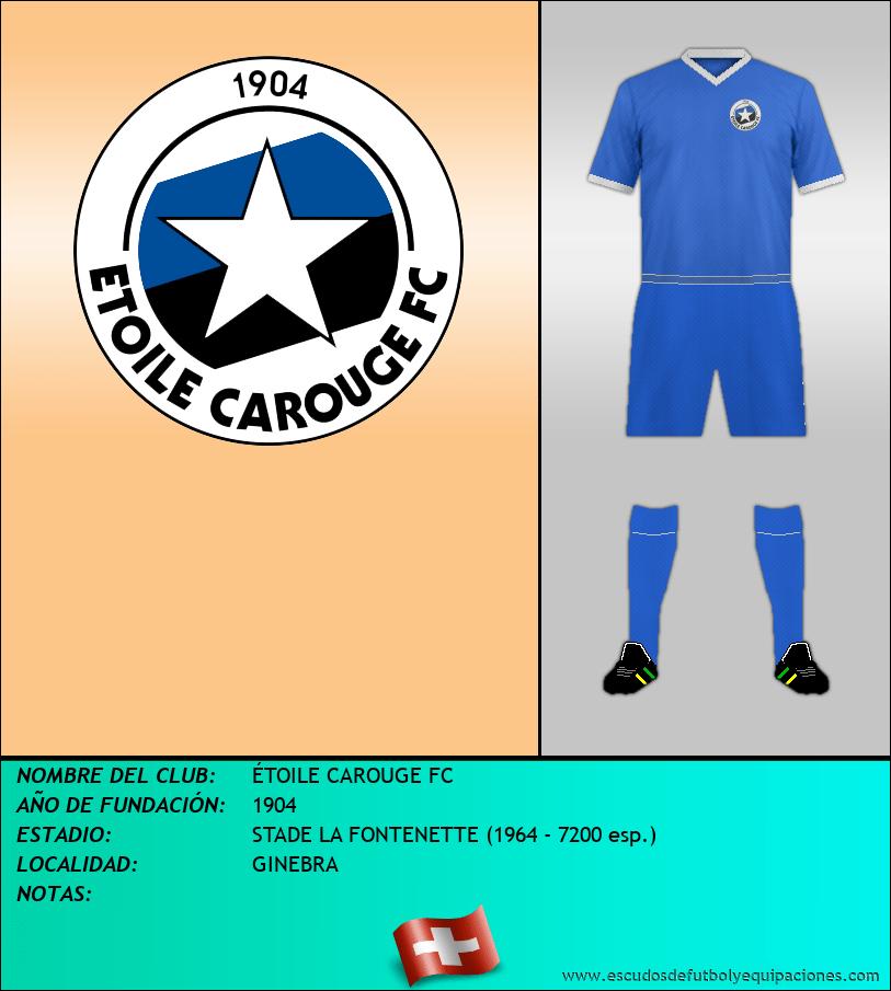 Escudo de ÉTOILE CAROUGE FC