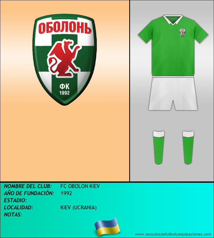 Escudo de FC OBOLON KIEV