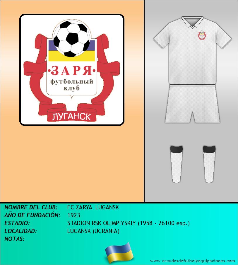 Escudo de FC ZARYA  LUGANSK