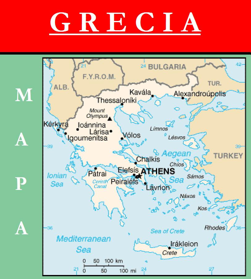 Escudo De Mapa De Grecia